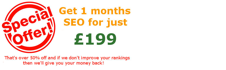 Special Offer – Get 1 Months SEO for £199
