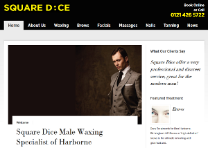 Male waxing, massages, manicures, and grooming in Birmingham from Square Dice